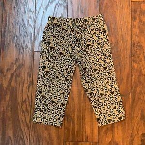 Girls Leopard and Heart Leggings